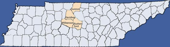 TN County Map